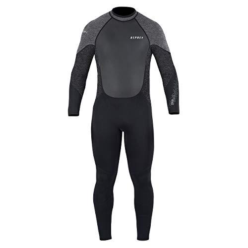 Osprey Zero 5 mm Neoprenanzug für Herren, 5/4 mm Neopren Lang Winter Wetsuit und Surfanzug, zum Surfen und Wassersport