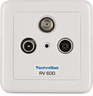 TechniSat TECHNIPRO RV 600-13 Durchgangsdose Aufputz 13 dB Weiß Rv Tv