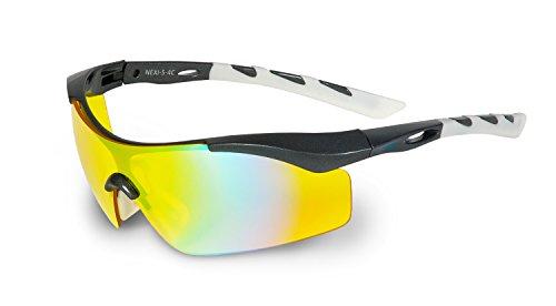 nexi Lunettes de sport Lunettes de soleil S de 4 Multicolore S-4C Darkgrey Silver-Metallic 8o10ON3SPS