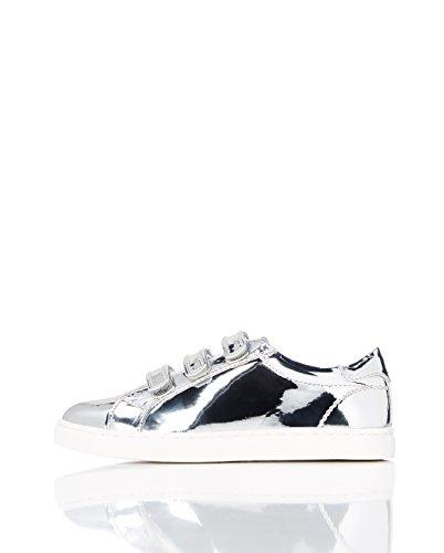 (RED WAGON Mädchen Sneaker mit Metallic-Oberfläche, Silber (Silver), 34.5 EU)