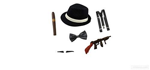 Seemeinthat Pinstripe 1920s Gangster Fancy Dress Costume