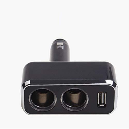 HermosaUKnight USB C Car Charger Cigarette Lighter Splitter Adapter 2 Socket Type C Multi Power Outlet