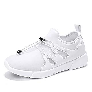 Faseroptische Schuhe A-Best LED Schuhe 7 Farben 12 Modi USB Wiederaufladbare Leuchten Schuhe Superleichte LED Sneaker für Männer und Frauen,White,25EU