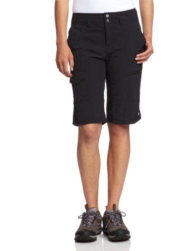 Polyester-walking Shorts (Columbia Cargo Wandershorts für Damen, Silver Ridge Cargo Short, Nylon, schwarz, Größe: 10, AL4596)