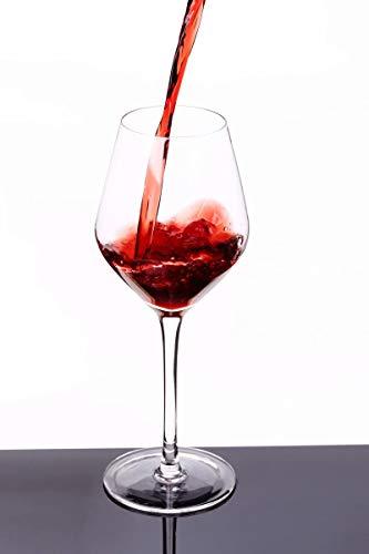 Transparentes Bleifreies Kristallglas Weinglas Schlichtes und Stilvolles Mundgeblasenes Burgunder-Weinglas 8er-Set Geeignet für Verschiedene Weinsorten Pinot Noir, Gamay, Zweigelt, St. Laurent usw