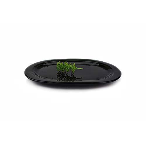 Assiettes À Pâtes Assiettes Assiette Vaisselle En Céramique Qualité Noir Assiette Ovale Vaisselle En Céramique Hôtel Assiette Vaisselle En Céramique, Noir