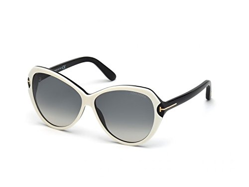 Tom Ford Sonnenbrille Valentina (60 mm) weiß/schwarz