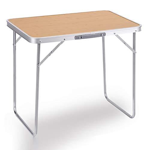 2.3ft 70 cm mis en Place à l'extérieur Table Pliante Portable pour intérieur et extérieur Garden Party Vacances Pique-Nique Petite Table -LJ Jing Shop