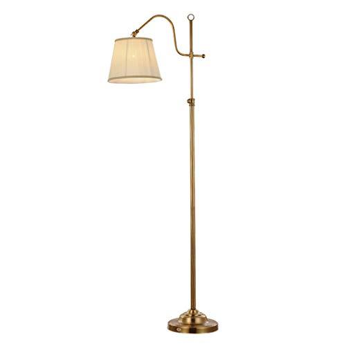 Floor DL Amerikanische minimalistische Wohnzimmer Stehlampe/Schlafzimmer Antik Kupfer LED vertikale Tischlampe. -