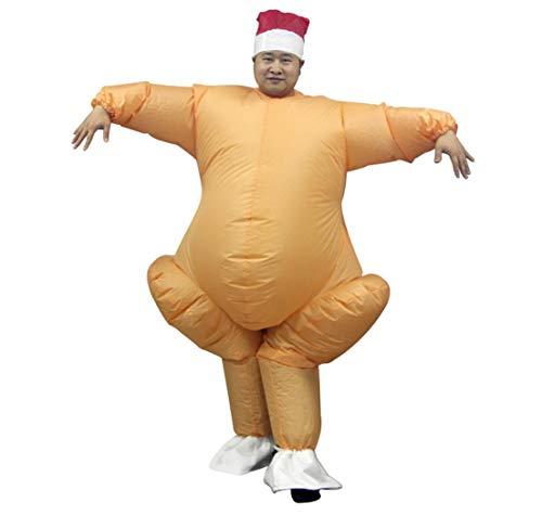 Weihnachtskostüm Ausgefallene - JXJ Weihnachts-Aufblasbare Weihnachts Kostüm Santa Claus Bühne Kostüm Lustige Kleidung Inflatable Aufblasbare, Ausgefallene Kleider Party Festliche Rolle Spielen Erwachsene,Yellow