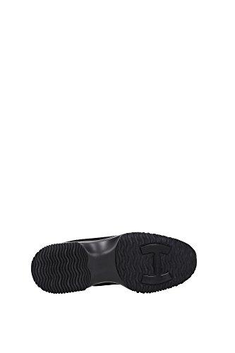 HXW00N0V340CR0B999 Hogan Sneakers Damen Wildleder Schwarz Schwarz
