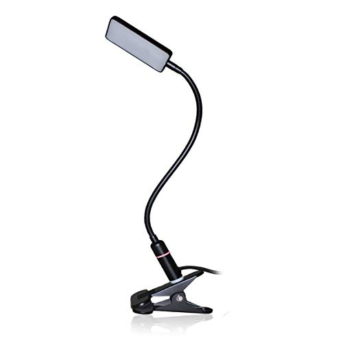 LED-Clip-Lampe - 3 Helligkeitsmodi - Sensor Touch - USB-Stecker und Adapter - Schwarz -