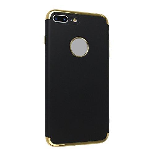 Coque Pour iPhone 7 Plus, Asnlove PC Hard Cover Dur Couleur Pure Housse Ultra Mince Cas Rigide Étui Mode Case Pour iPhone 7 Plus - Rouge Noir