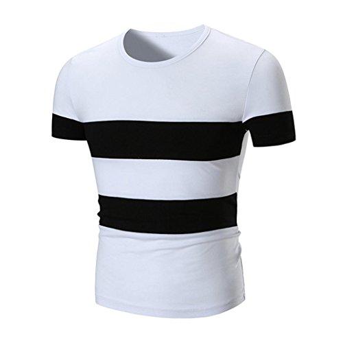 Ralph Jacke Lauren-polo-jungen (Kanpola Shirt Oversize Herren Slim-Fit V-Neck Basic T-Shirt Streifenshirt Streifen und Rundhalsausschnitt Männer Kurzarm Polo Shirts Tops)