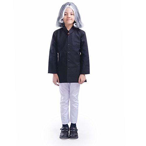 FancyDressWale Boy's and Girl's APJ Abdul Kalam Fancy Dress (Black, 8 Years)