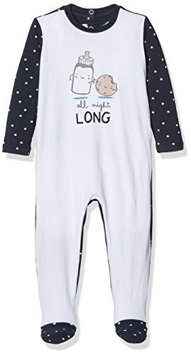 Chicco tutina apertura sul patello, blu (blu bianco 086), neonato (taglia produttore:044) unisex-bimbi