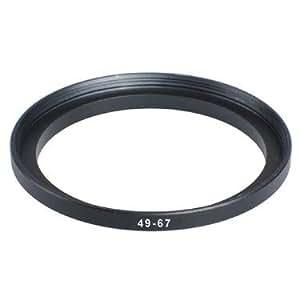 Adaptateur Filtre 49mm-67mm Step-Up (Lens pour filtre),Bague d'adaptation 49-67mm,Bague Métal Mesuré en haut Set, Métal Noir Anodisé