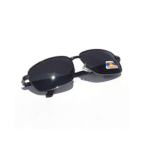 Sport-Sonnenbrillen, Vintage Sonnenbrillen, Männers Polarized Sunglasses Retro Rectangle Polarizer Lens Sun Glasses Fashion Classical Night Vision Eyewear as picture Gun Gray
