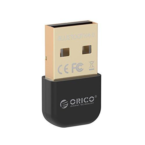 ORICO Adaptateur USB Bluetooth 4.0 Dongle, pour PC Ordinateur de bureau, Ordinateur portable, Mini Transmetteur récepteur pour Windows 8, 7, XP, 32 ou 64 bits (Noir)