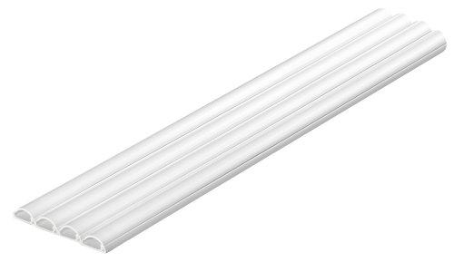 D-Line Kabelkanal Klein Profil 16 x 8 mm 1 m weiß (4 Stück)