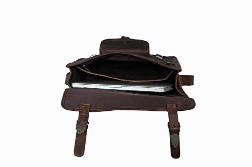 Rustic Town alta qualità fatto a mano Portadocumenti in pelle Cartelletta in pelle cartella documenti Stile vintage e antiquariato Per uomini e donne nelle riunioni, conferenze, ufficio e università.  brown