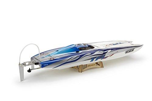 Amewi 26049 - Genesis Powerboat Flame, 950 mm, blau/weiß