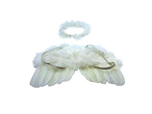 Kostüm für Baby-Bilder, kleiner Engel mit Flügeln und ()