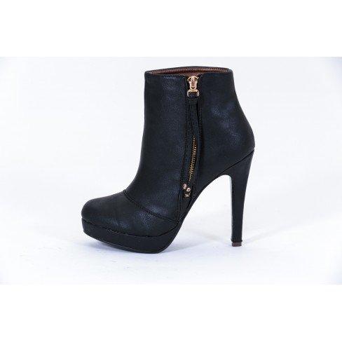 Princesse boutique - Bottines Zippées Noires Noir