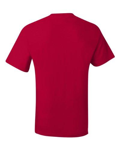 Hanes-T Beefy-Maglietta da adulto, tascabile Deep Red