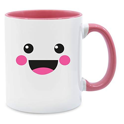 (Statement Tasse - Süßes Gesicht Fasching Kostüm - Unisize - Rosa - Q9061 - Kaffee-Tasse inkl. Geschenk-Verpackung)