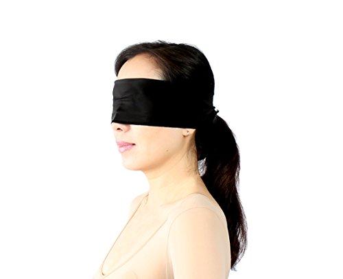 Bondage Stoff Augenschal Augenbinde Augenmaske Augen Schal Maske 140 x 12 schwarz