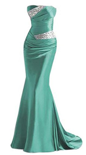 PLAER femmes Package robe queue de poisson de la hanche robe de demoiselle d'honneur de mariage Sexy Mermaid robe de soirée de bal vert malachite