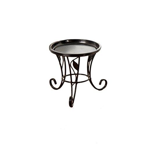 Ounona Mini-Blumentopfständer für den Innen- und Außenbereich, Metall, für den Balkon, Schreibtisch (schwarz) - Schwarz Schreibtisch Leiter