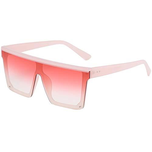 CixNy Damen Herren Polarisierte Sonnenbrille, Unisex Rechteckig Unregelmäßige Rahmen Weinlese Brille Hochwertige Oversize 100% UV-Schutz Objektiv Gespiegelte Eyewear