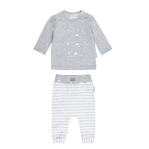 Feetje Baby-Jungen Zweiteiliger Sweat-Anzug Wolken,grau Melange, 50 - Sweat Jungen Anzüge