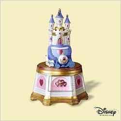 Disney 2006 Hallmark Jewelry Music Box Cinderella Castle Ornament - Treasures and Dreams Series