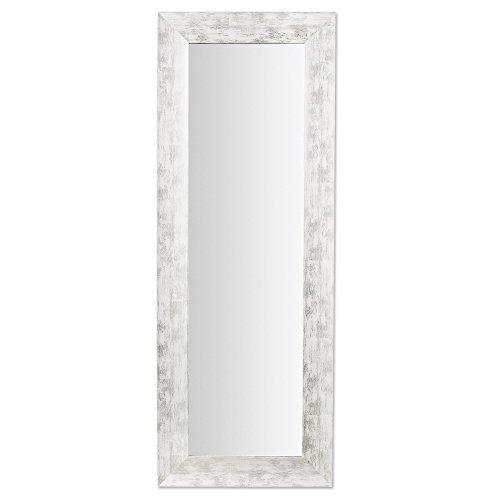 Kave Home Espejo Misty, blanco y plata 159X59