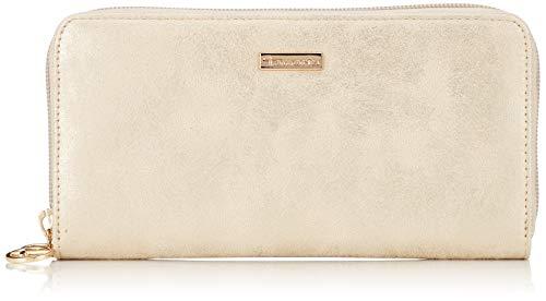 Tamaris Damen Elsa Big Zip Around Wallet Geldbörse, Beige (Pepper Comb) 2x10x19,5 cm