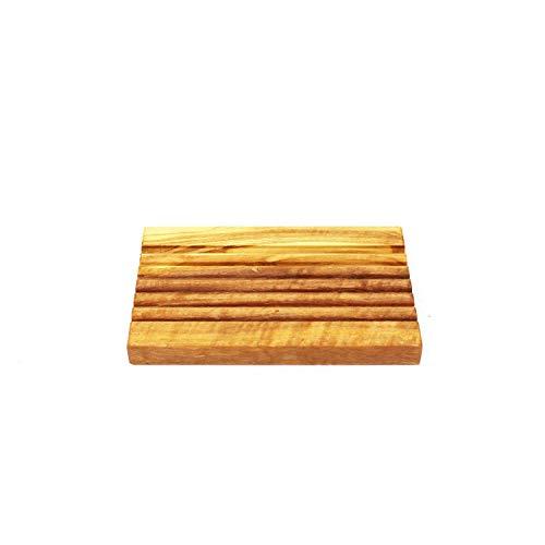 Seifenablage aus Holz   Handarbeit   Seifenablage Rille aus Olivenholz   Seifenhalter aus Holz Badezimmer Dusche   Seifenschale Badezimmerdeko