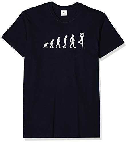 Texlab Yoga Evolution - Herren T-Shirt, Größe XL, Navy
