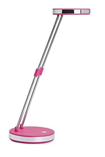 MAULpuck, LED-Tischlampe, Pink, Helle Schreibtischleuchte, 1300 Lux, Tageslichtweiß, Metall-Teleskoparm, Höhe ca. 33 cm