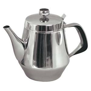 Stainless Steel Gooseneck Tea Pot w/ Vented Hinged Lid (48 Ounces (6 -7 (48 Pot)