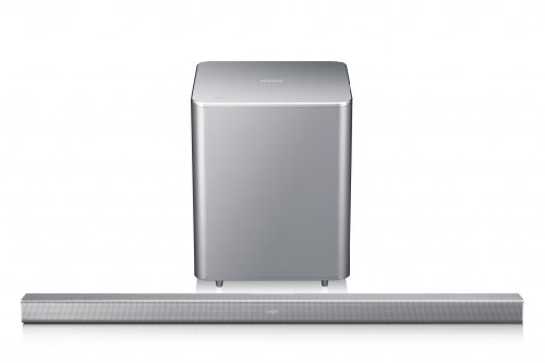Abbildung Samsung HW-F551/EN 2.1 Soundbar mit Subwoofer (310 Watt, SoundShare, Bluetooth) silber