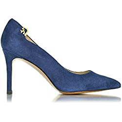 Tory Burch Damen 32451403 Blau Wildleder Pumps