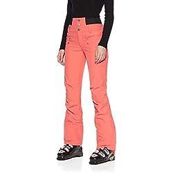 Roxy Rising High-Pantalon de Ski/Snowboard Taille Haute pour Femme, Living Coral, FR Fabricant : S