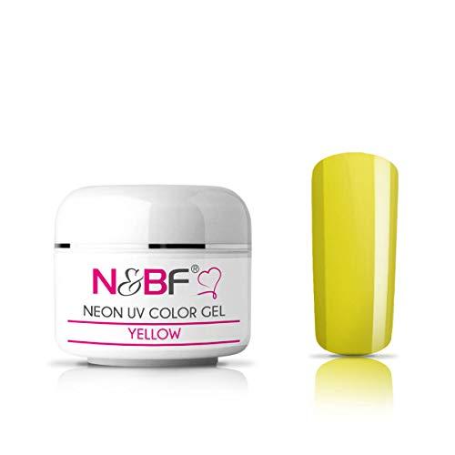 N&BF Neon Farbgel 5ml   Yellow (Gelb)   UV Colour Gel für Gelnägel   Effektgel für künstliche Fingernägel mittelviskos   Made in EU   Nagelgel UV neon   Colorgel ohne ()