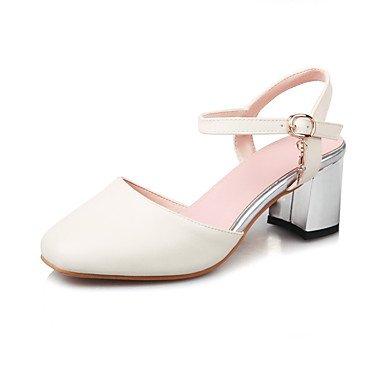 LvYuan Damen-Cloggs & Pantoletten-Kleid Lässig Party & Festivität-Kunstleder-Blockabsatz-Fersenriemen Club-Schuhe-Rosa Rot Beige Pink