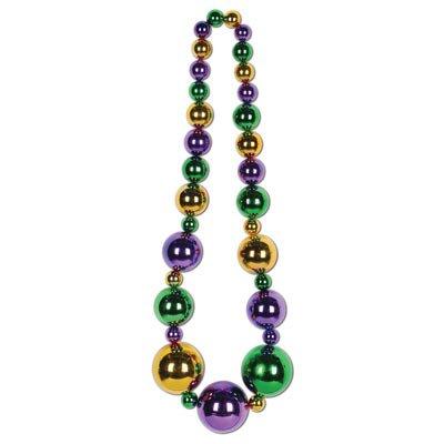 Beistle 57070-ggp Mardi Gras King Größe Perlen, 51-inch