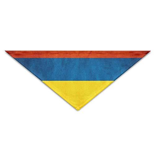 Gxdchfj Vintage Style Flag Sacred Colombia Triangle Pet Scarf Dog Bandana Pet Collars Dog Cat - Birthday