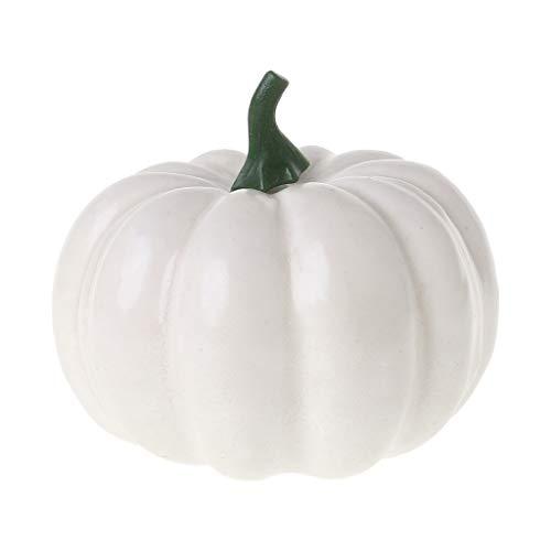 ruiruiNIE Realistische Gefälschte Künstliche Kleine Kürbisse Für Halloween Herbst Ernte Thanksgiving Party Decor DIY Handwerk - Weiß